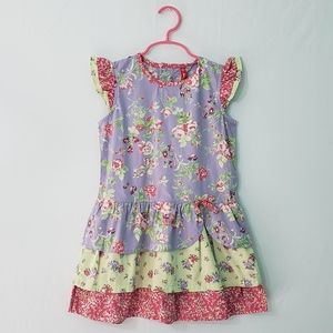 Hanna Andersson Tiered Floral Dress 100